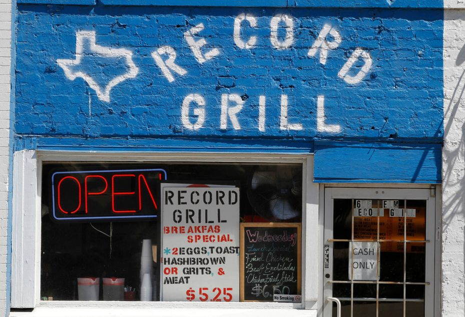 The Record Grill located at 605 Elm St. Dallas, Texas has been in business more than 40 years at the same location. Photo taken on Wednesday, May 23, 2017. (David Woo/The Dallas Morning News)