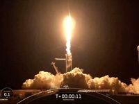 """This screengrab taken from the SpaceX live webcast shows a SpaceX Falcon 9 rocket carrying the Inspiration4 crew, Hayley Arceneaux, Jared Isaacman, Sian Proctor and Christopher Sembroski onboard, blasting off from NASA's Kennedy Space Center in Florida, on September 15, 2021. - A SpaceX Falcon 9 rocket carrying four space tourists blasted off from the Kennedy Space Center in Florida for the first mission to orbit the globe with an all-civilian crew. (Photo by - / SPACEX / AFP) / RESTRICTED TO EDITORIAL USE - MANDATORY CREDIT """"AFP PHOTO /  SPACEX """" - NO MARKETING - NO ADVERTISING CAMPAIGNS - DISTRIBUTED AS A SERVICE TO CLIENTS (Photo by -/SPACEX/AFP via Getty Images)"""