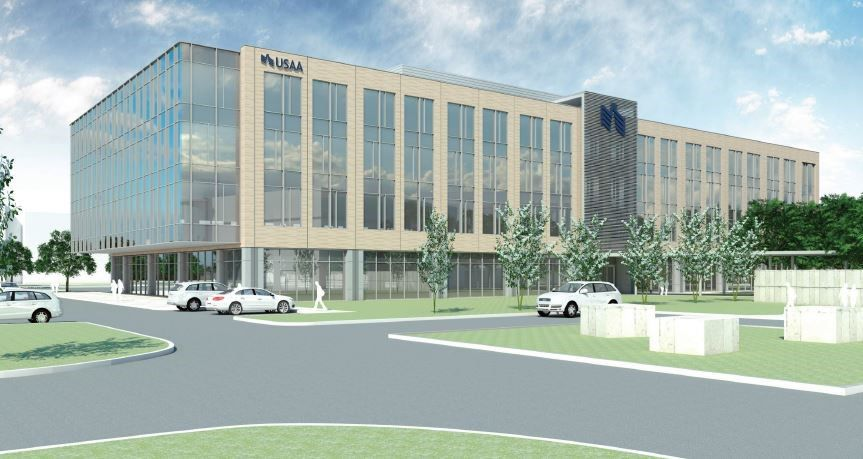 USAA just opened a four-story building in the Plano campus on Legacy Drive.