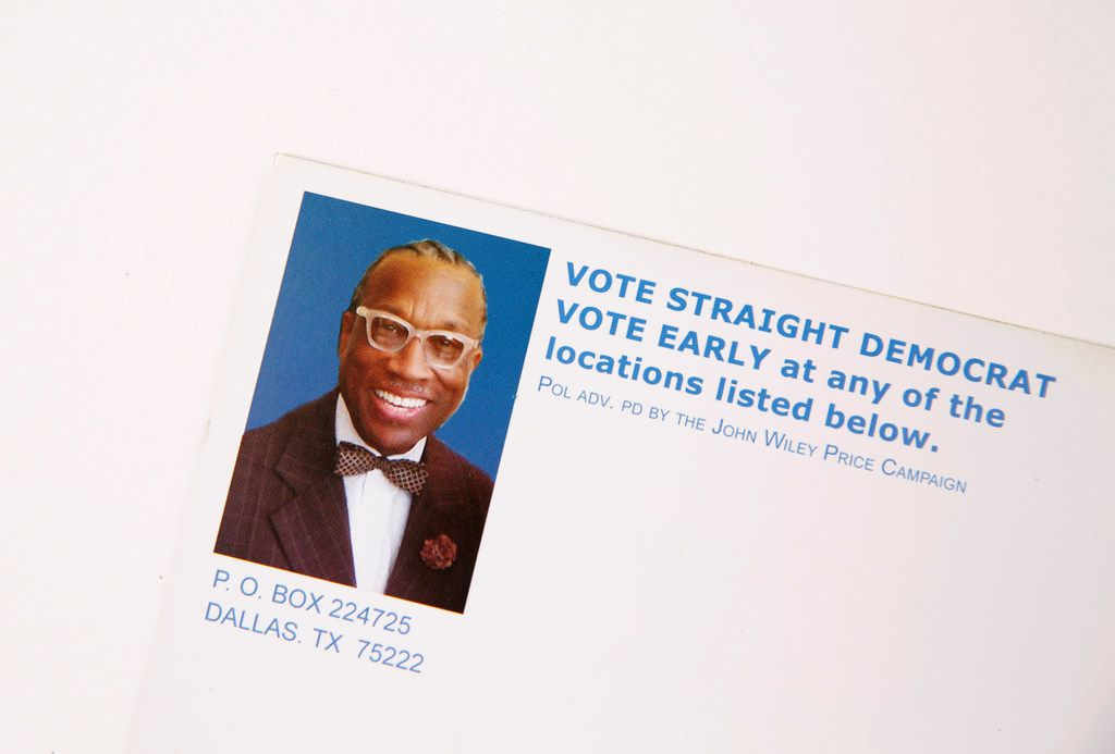 A mailer sent out by the John Wiley Price Campaign. (John Wiley Price Campaign)