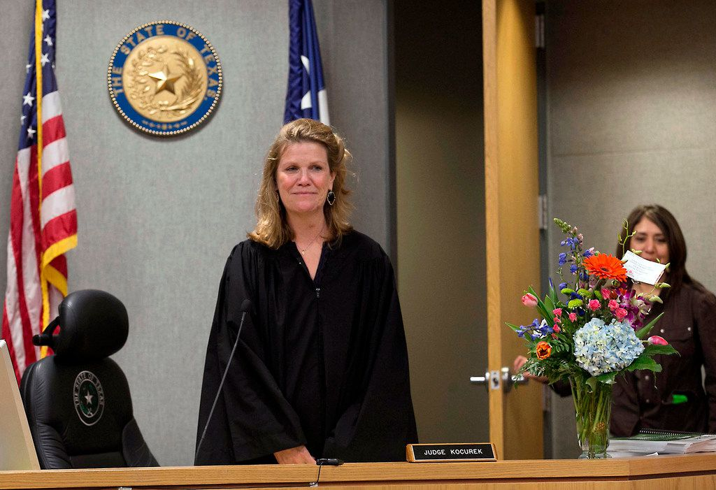 On Feb. 29, 2016, District Judge Julie Kocurek made her first public appearance after spending weeks recovering from an assassination attempt in November 2015. A federal jury in Austin found 30-year-old Chimene Onyeri guilty of several charges relating to the assassination attempt.