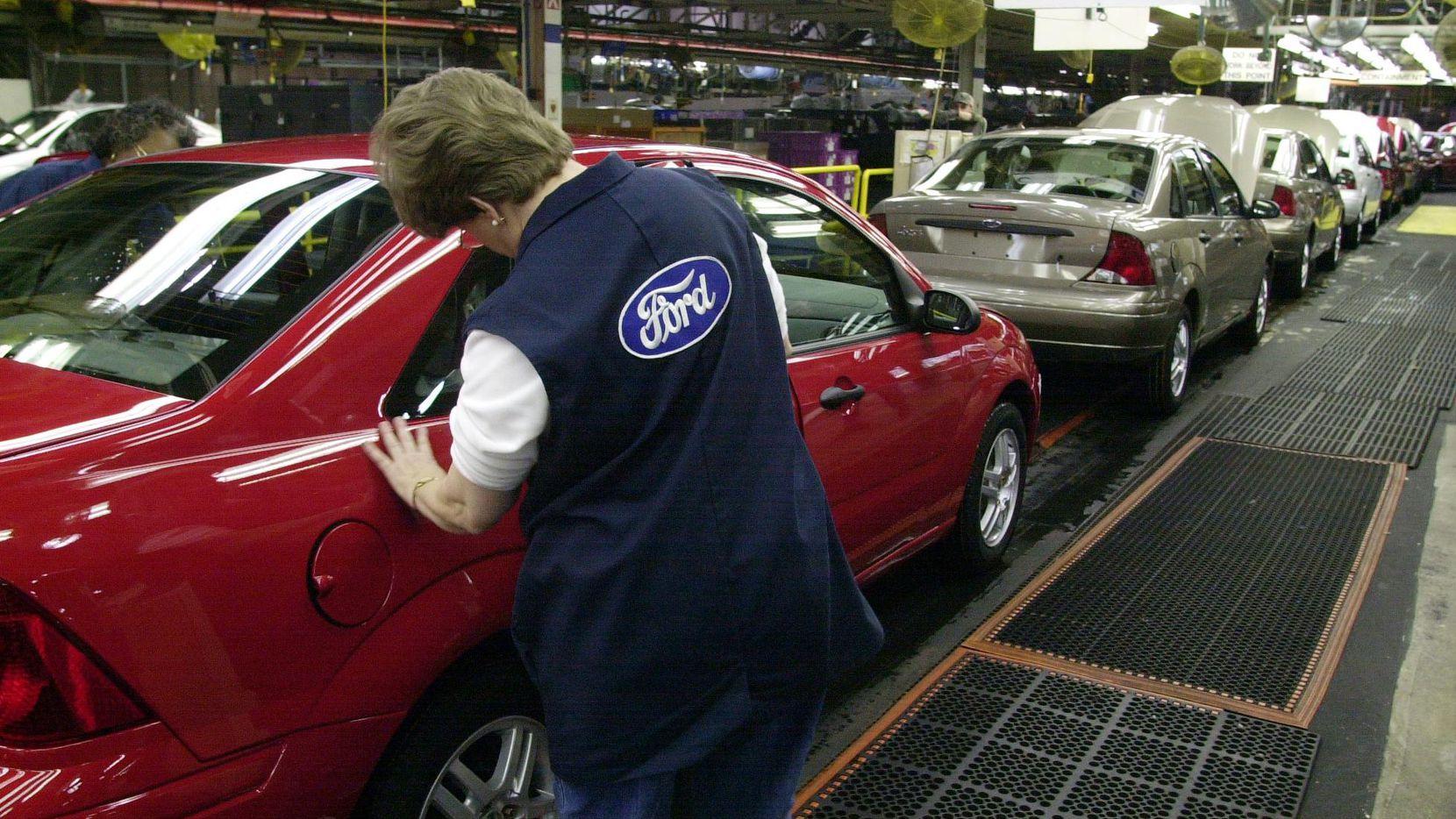 Producción de autos Ford en Hermosillo, México. (AP/CARLOS OSORIO)