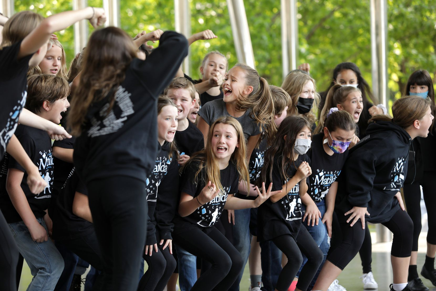 Members of North Texas Performing Arts performed during Saturday's Voly in the Park in Klyde Warren Park in downtown Dallas.