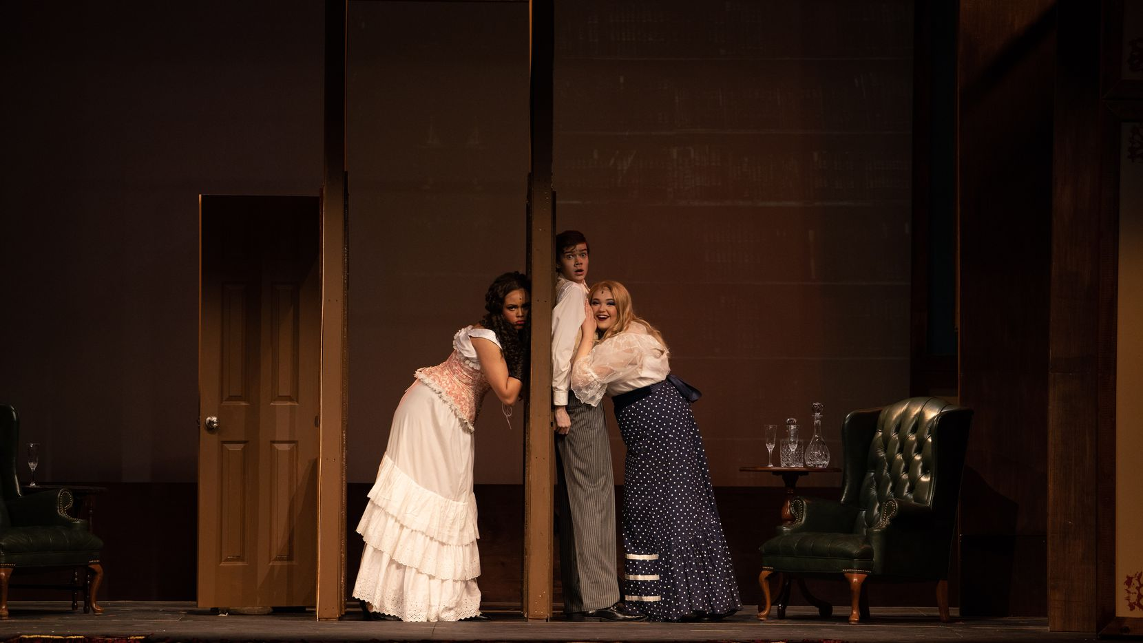 """This is a scene from """"A Gentleman's Guide to Love and Murder,"""" as performed at Guyer High School in Denton. Guyer won the most awards, five, including Best Musical for this production, at the 2020 High School Musical Theatre Awards, hosted by Dallas Summer Musicals, in a """"virtual"""" presentation on YouTube."""