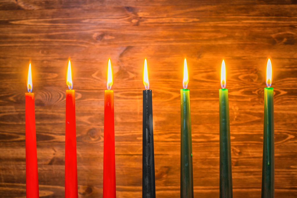 Red, black and green are key colors in the Kwanzaa tradition.