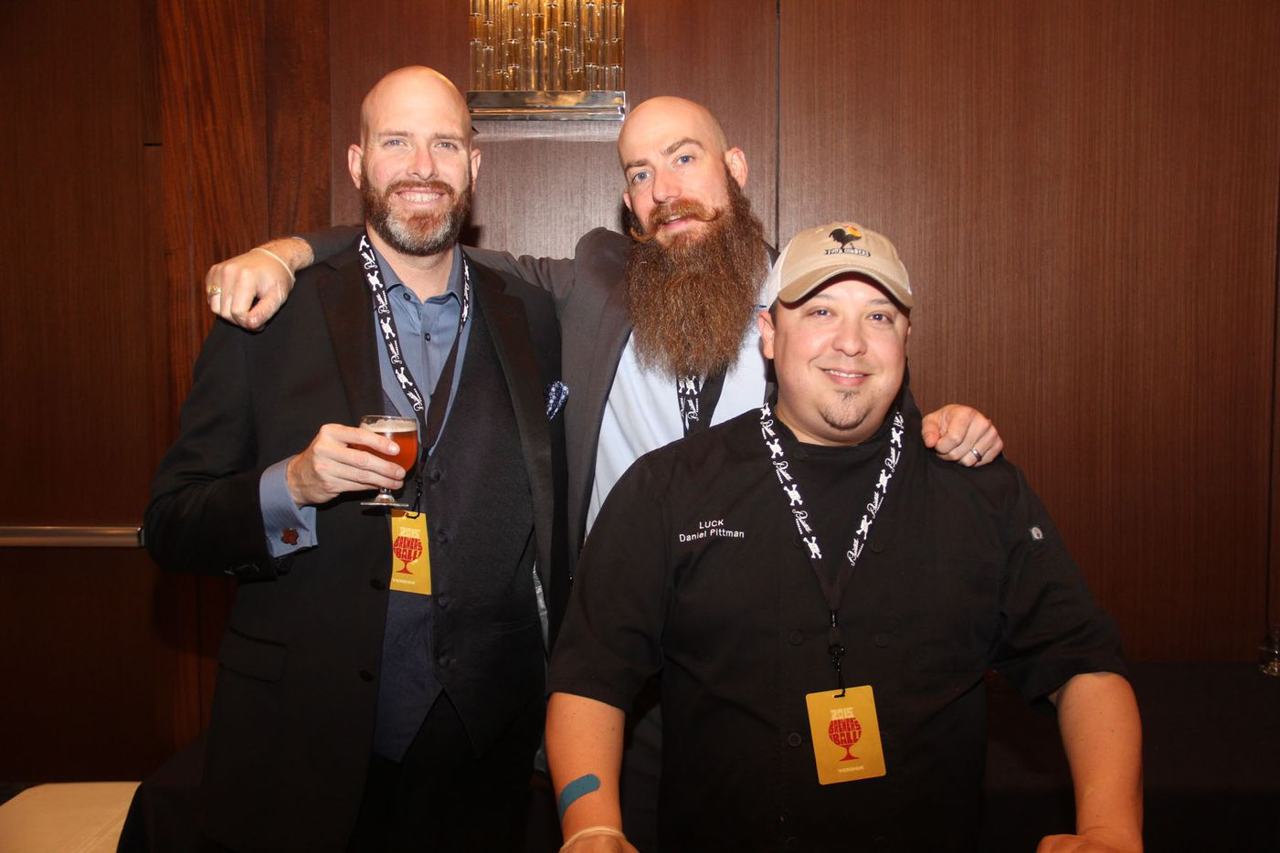NTX Beer Week held its Second Annual Brewers Ball at the Renaissance Dallas Hotel on November 13, 2015. Ned Steel, Jeff Dietzman and Daniel Pittman of Luck.