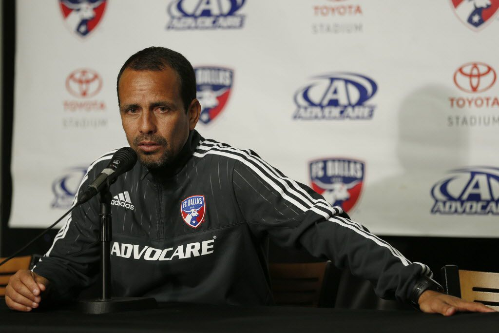 FC Dallas head coach Oscar Pareja speaks to the media during FC Dallas media day at Toyota Stadium in Frisco, Texas Wednesday March 2, 2016. The FC Dallas season starts Sunday, March 6, 2016, against the Philadelphia Union. (Andy Jacobsohn/The Dallas Morning News)