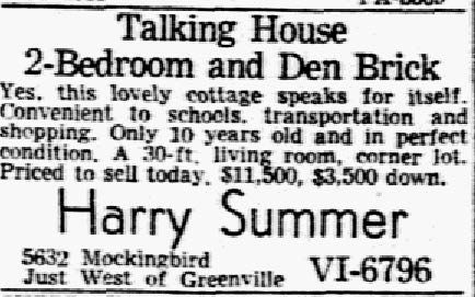 Advertisement published on Sep. 3, 1951.