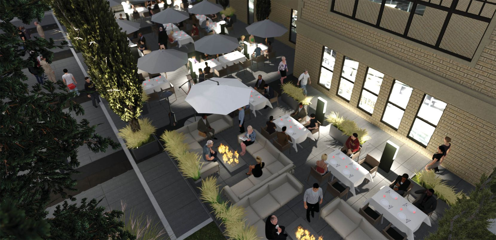A ground floor patio are is planned at the old Dallas High School.