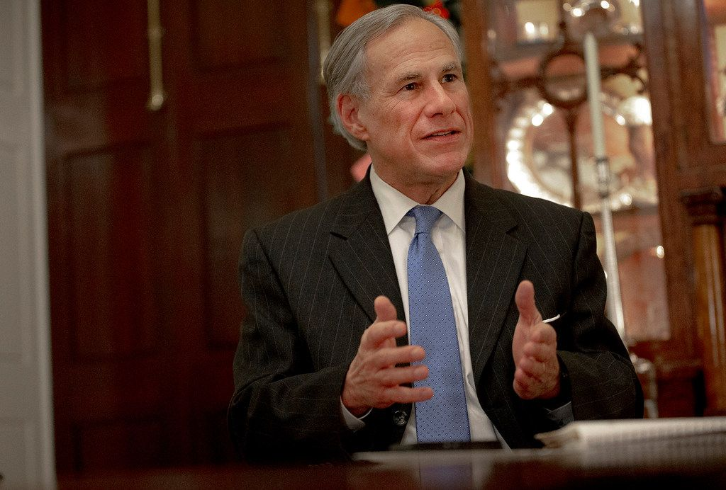 Texas Gov. Greg Abbott speaks during an interview at the Texas Governor's Mansion on Dec. 6, 2018, in Austin.