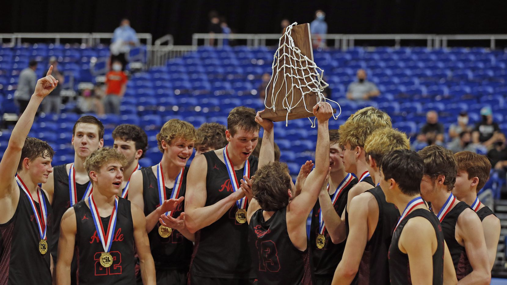 UIL boys Class 4A basketball state championship game between Argyle and Hargrave on Saturday, March 13, 2021 at the Alamodome.