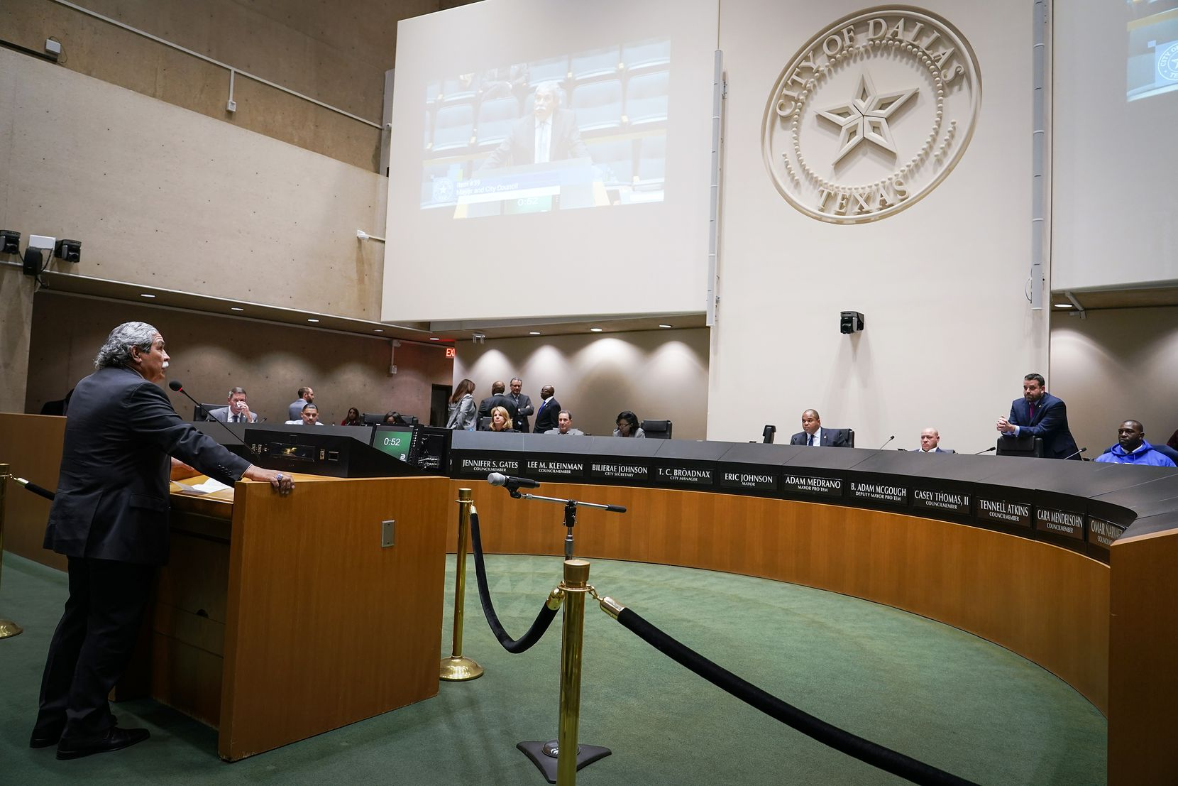 Dallas ISD Superintendent Michael Hinojosa spoke at a Dallas City Council meeting Wednesday in favor of a plan to renovate the historic Reverchon Park.