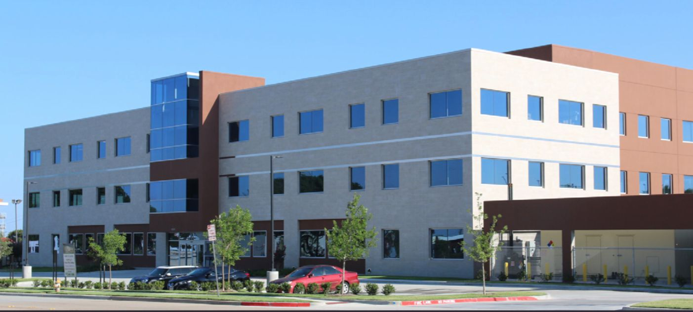 The medical building is located near Preston Road and Bush Turnpike.