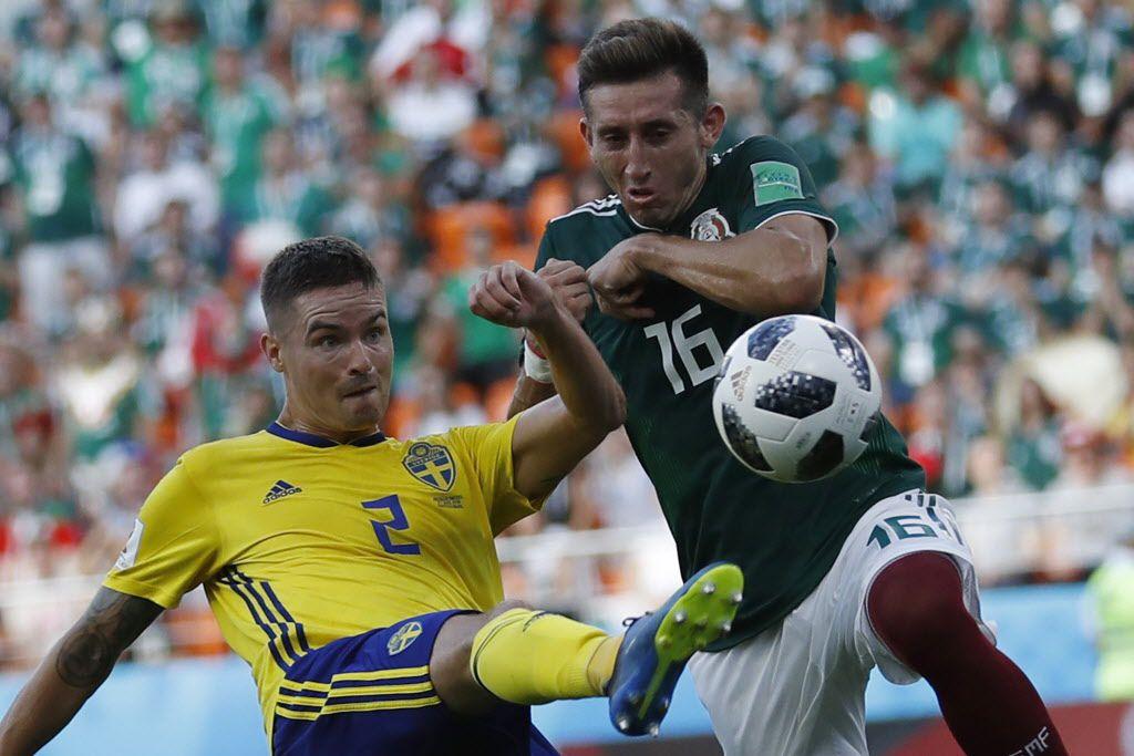 Héctor Herrera y México enfrentan a Brasil en octavos de final del Mundial de Rusia 2018. Foto AP