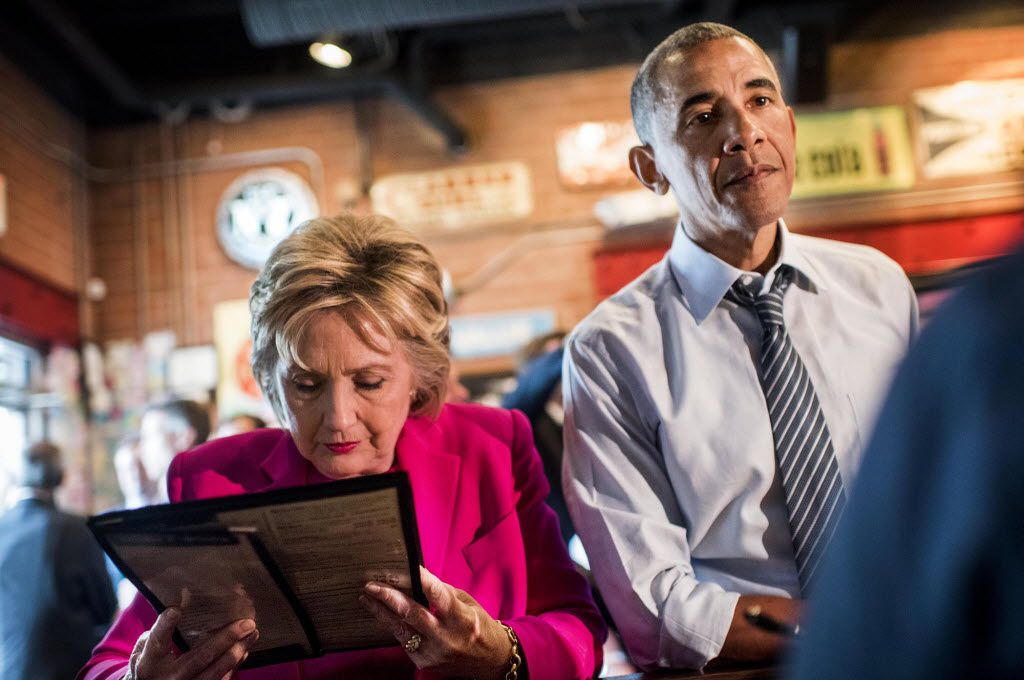 Hillary Clinton and President Barack Obama stopped for barbecue in Charlotte, N.C., after a July 5 rally, their first joint campaign appearance this year.