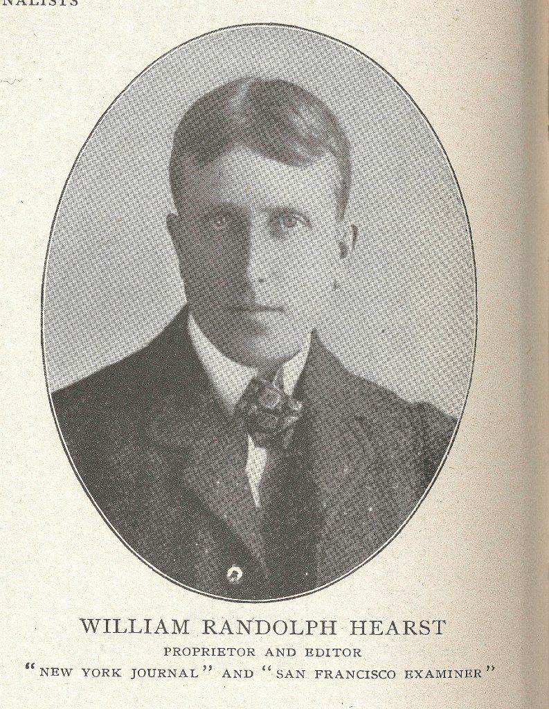 William Randolph Hearst, in an 1899 image.