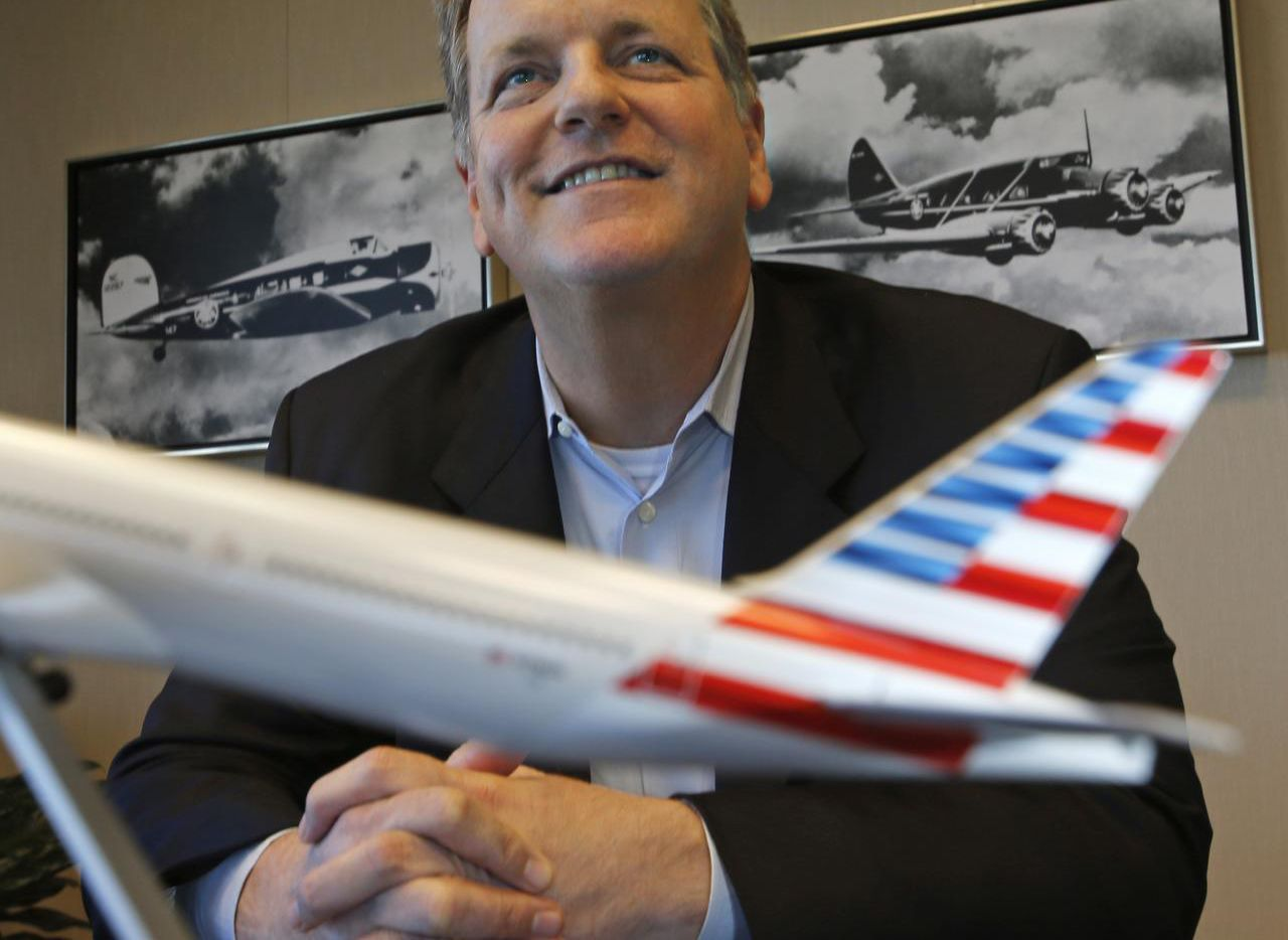 American Airlines CEO Doug Parker got $12.3 million in salary, stock and other compensation last year. Starting May 1, he's tying his fortunes to American's.