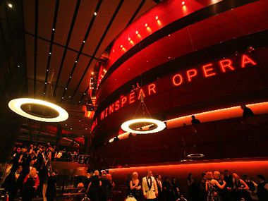 The Margot and Bill Winspear Opera House during AT&T Performing Arts Center's black-tie gala for Act III Grand Opening Premiere on Saturday, October 17, 2009.  (Mei-Chun Jau/The Dallas Morning News)