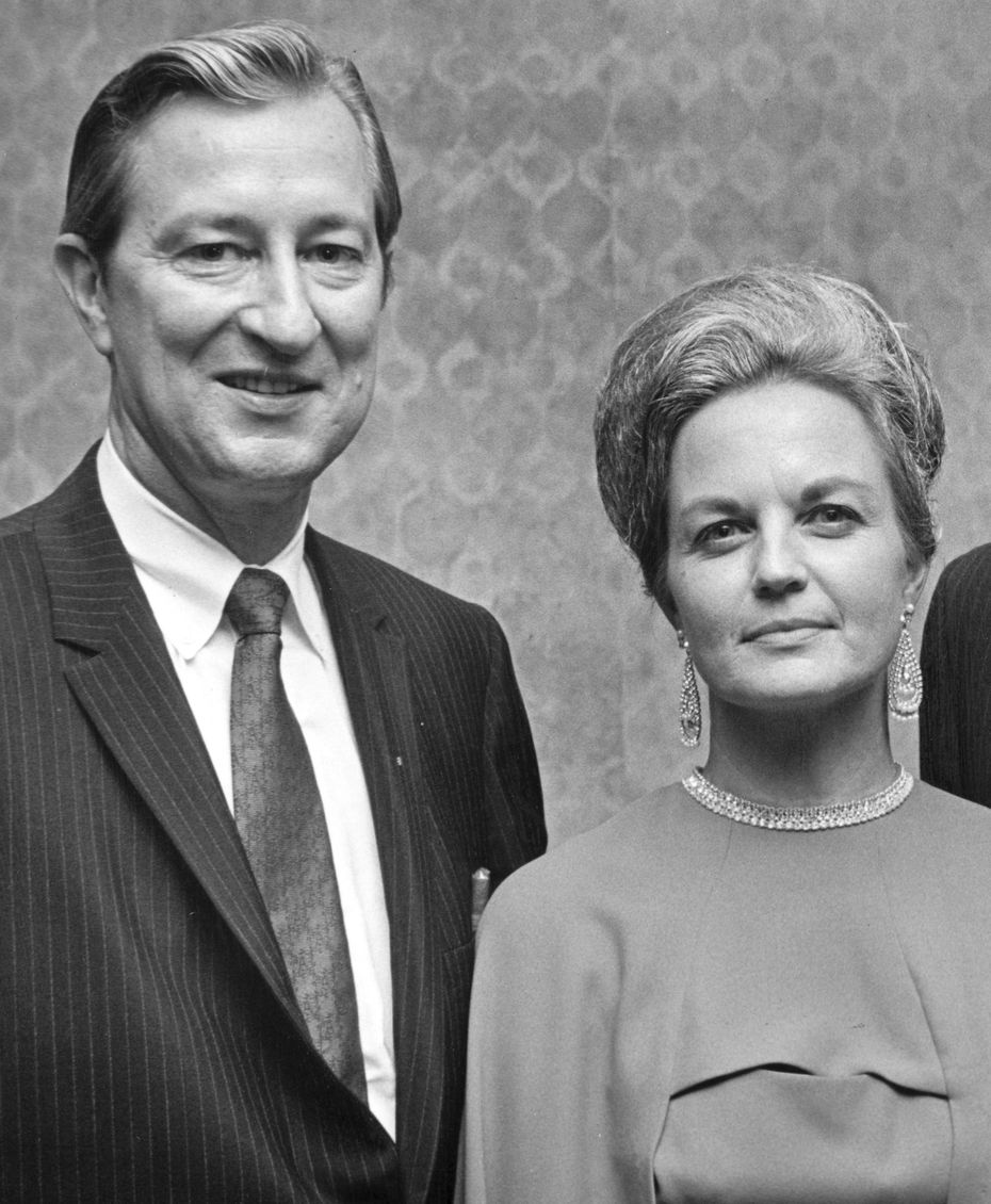 Texas State Sen. Ralph Hall launched his campaign for Texas lieutenant governor with his wife, Mary Ellen, at his side in Aug. 5, 1969.