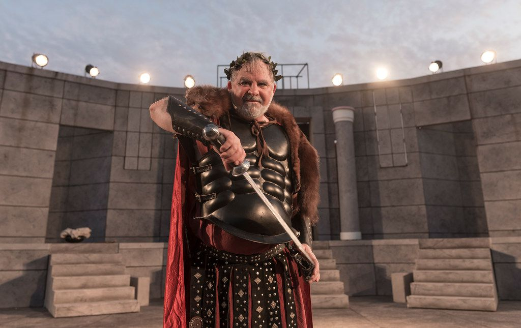 Raphael Parry plays Titus in Shakespeare in the Park's Titus Andronicus.