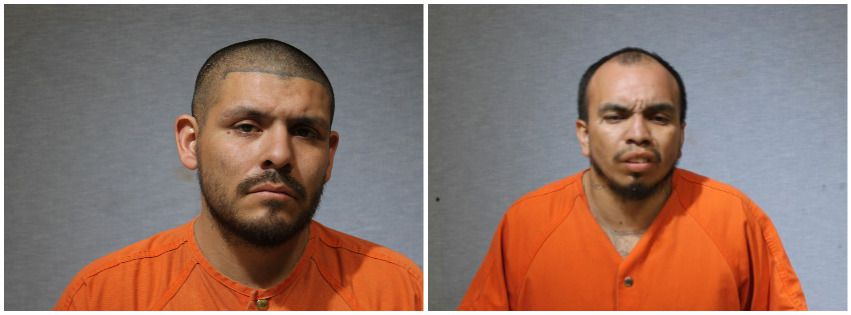 Luis Gerardo Ruiz (left) and Jose Oscar Garcia, both 29, were apprehended after the pursuit.
