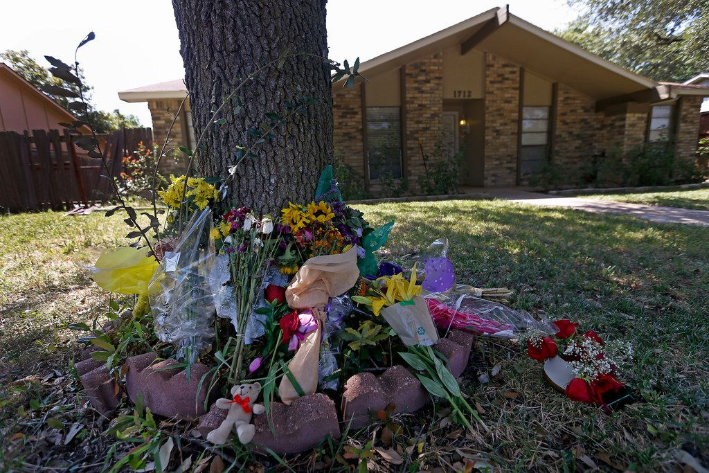 Flowers and other items are placed at a makeshift memorial for the Plano shooting victims who were killed this month while at a football game-watching party. (File Photo/Jae S. Lee)