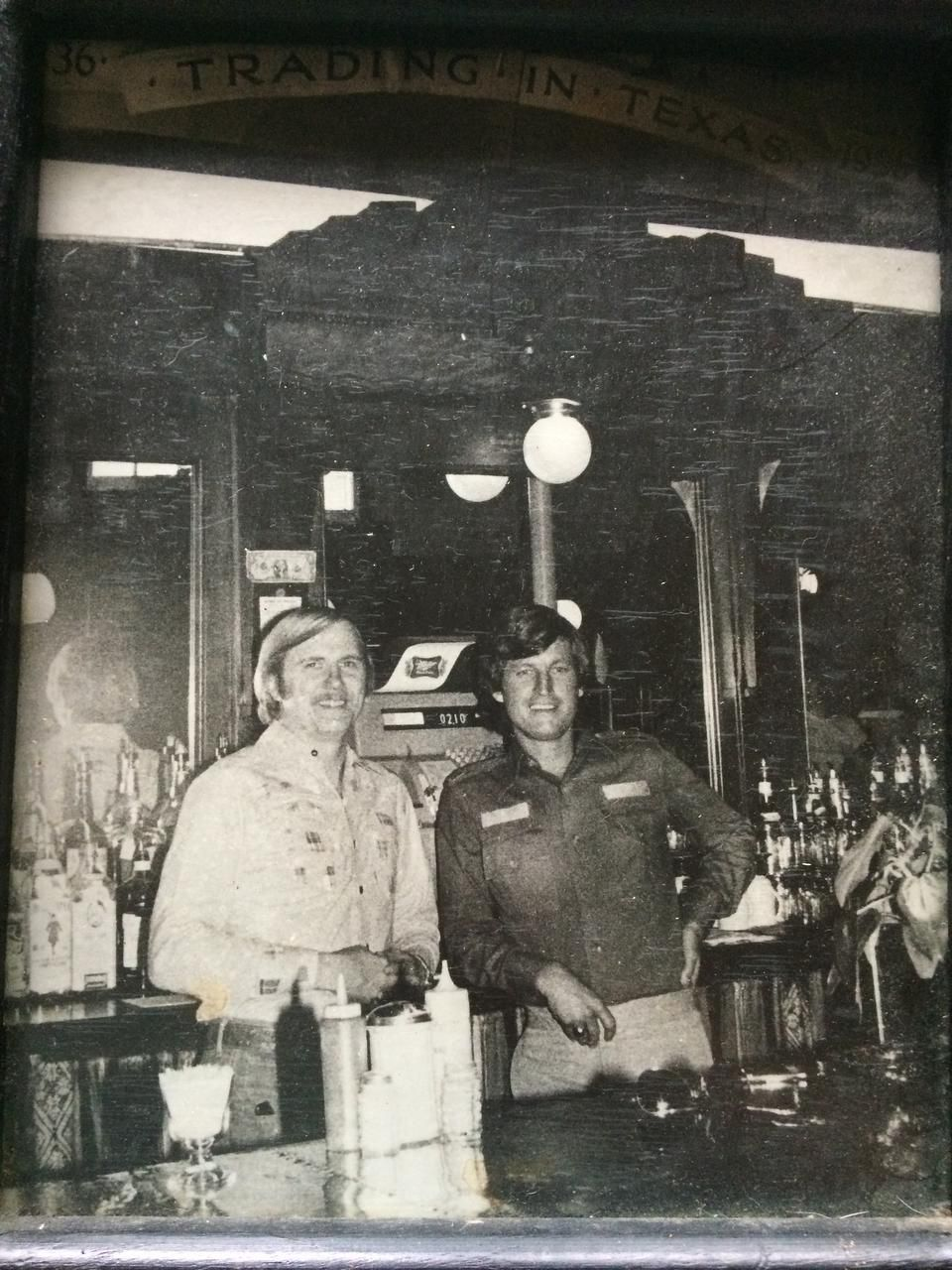 Phil Cobb and Gene Street paused for a photo shortly after their first Black-Eyed Pea opened.