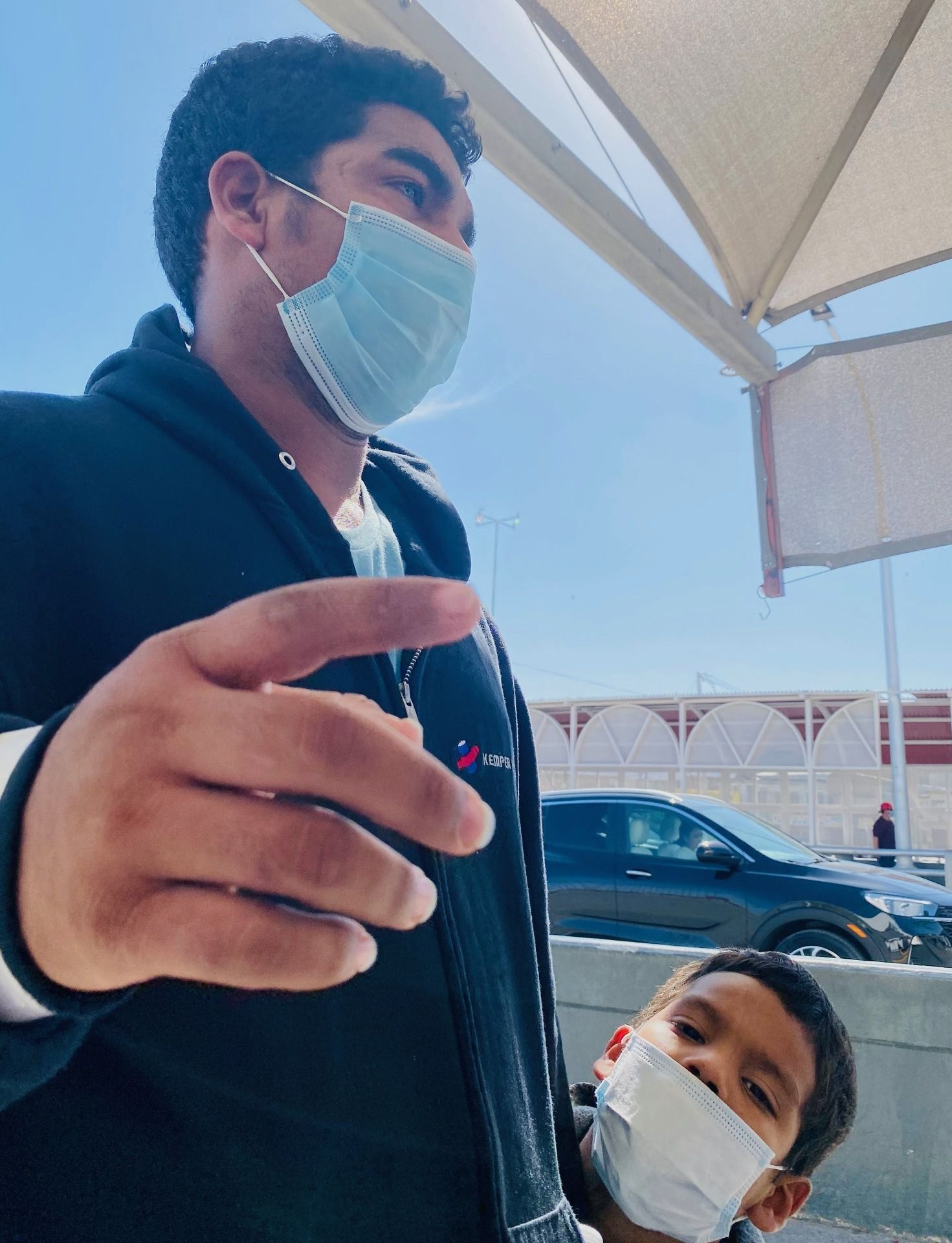 A father on March 20 laments having brought his son from Guatemala to the border. The two had turned themselves in to federal authorities in South Texas and were flown to El Paso to be immediately expelled to Mexico.