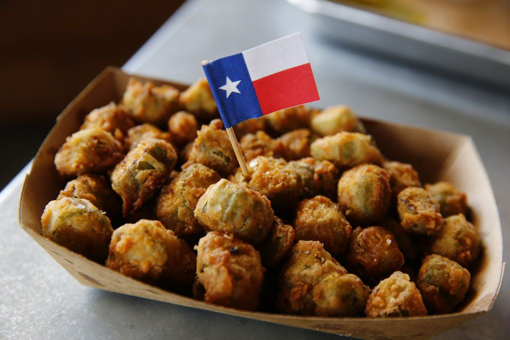 Fried okra at Ferris Wheelers Backyard & BBQ in Dallas on Sept. 25, 2017.   (Nathan Hunsinger/The Dallas Morning News)
