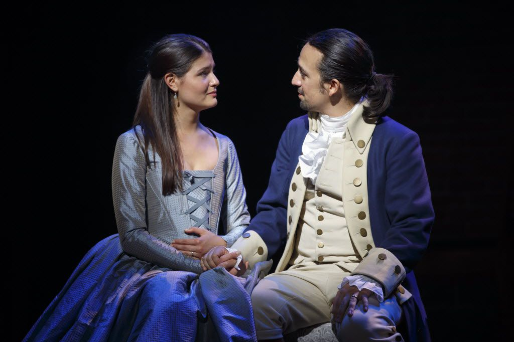 Lin-Manuel Miranda (right) updated the Broadway musical with an eclectic mix of contemporary pop styles in Hamilton, an idea he first explored in In the Heights.