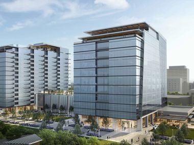 Dallas' Sewell Automotive and Lincoln Property will move their offices to the new project on Douglas Avenue.