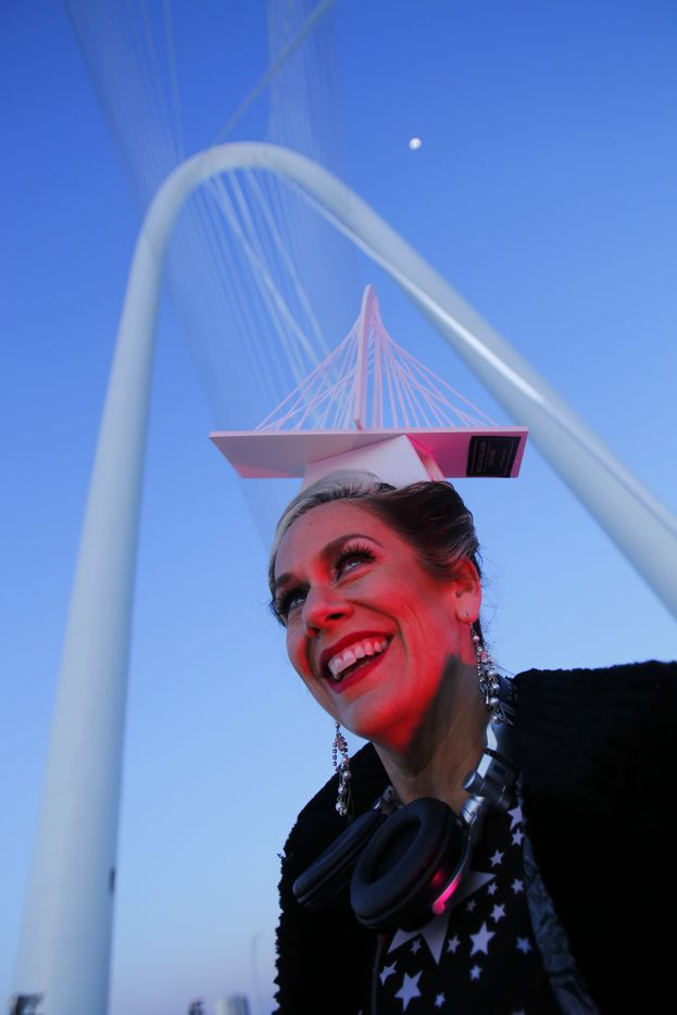 Lucy Wrubel of Dallas at the opening night festivities of the Margaret Hunt Hill Bridge March 2, 2012. (Tom Fox/The Dallas Morning News)