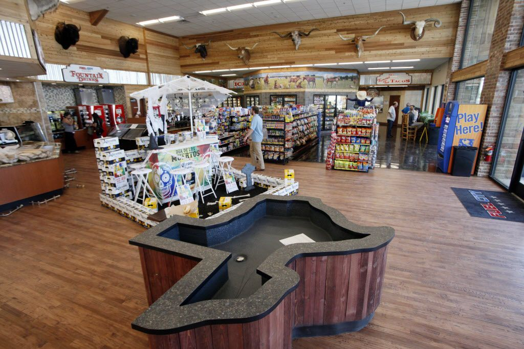 A Texas shaped tub will be used to chill beer inside the new Fuel City gas station, on Wednesday, Sept. 23, 2015 in Mesquite. Ben Torres/Special Contributor