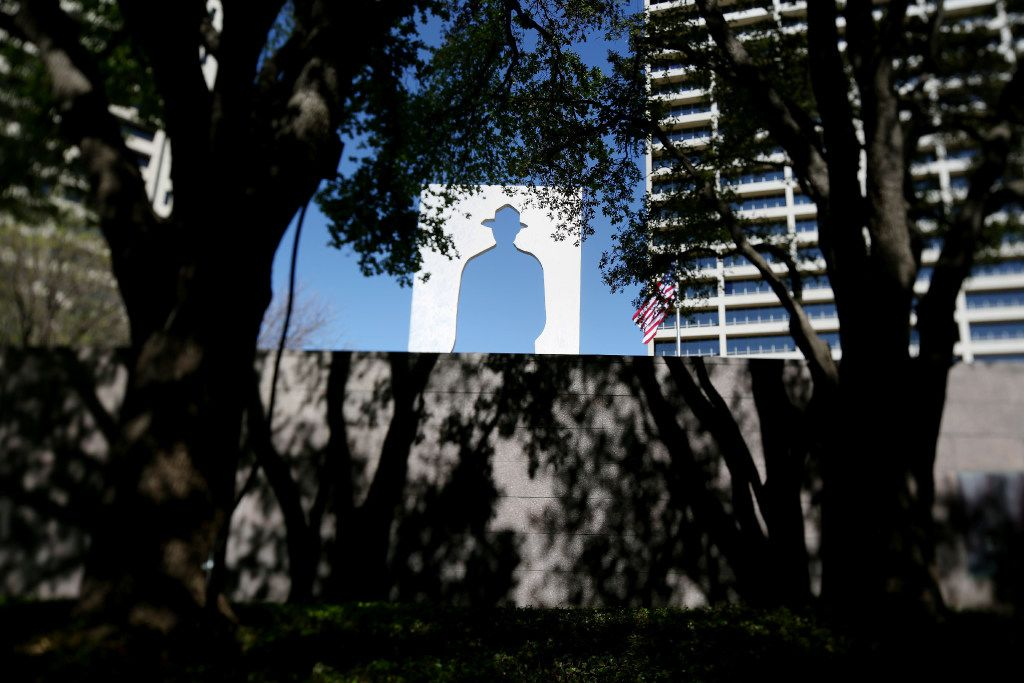 Landscape architect Peter Walker designed Burnett Park in downtown Fort Worth, Texas. The park was originally laid out by George Kessler in 1919, according to Walker's firm. Burnett Park was photographed on Tuesday March 21, 2017. (Andy Jacobsohn/The Dallas Morning News)