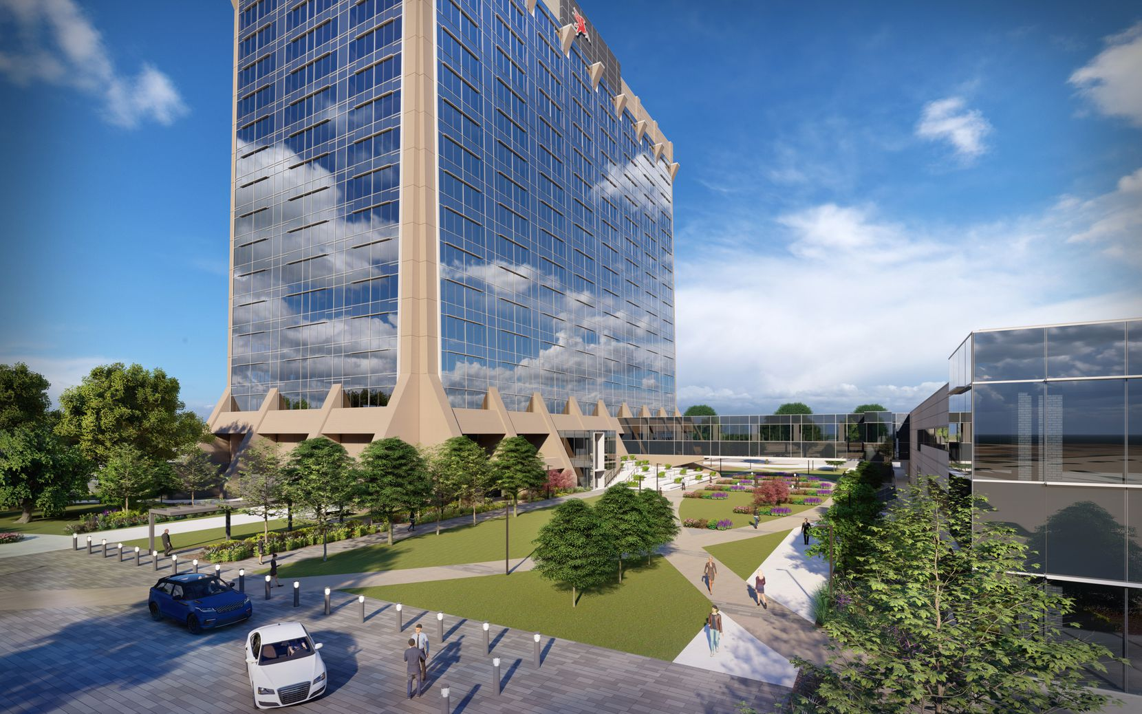 The 18-story tower will get a new glass exterior and complete redo inside.