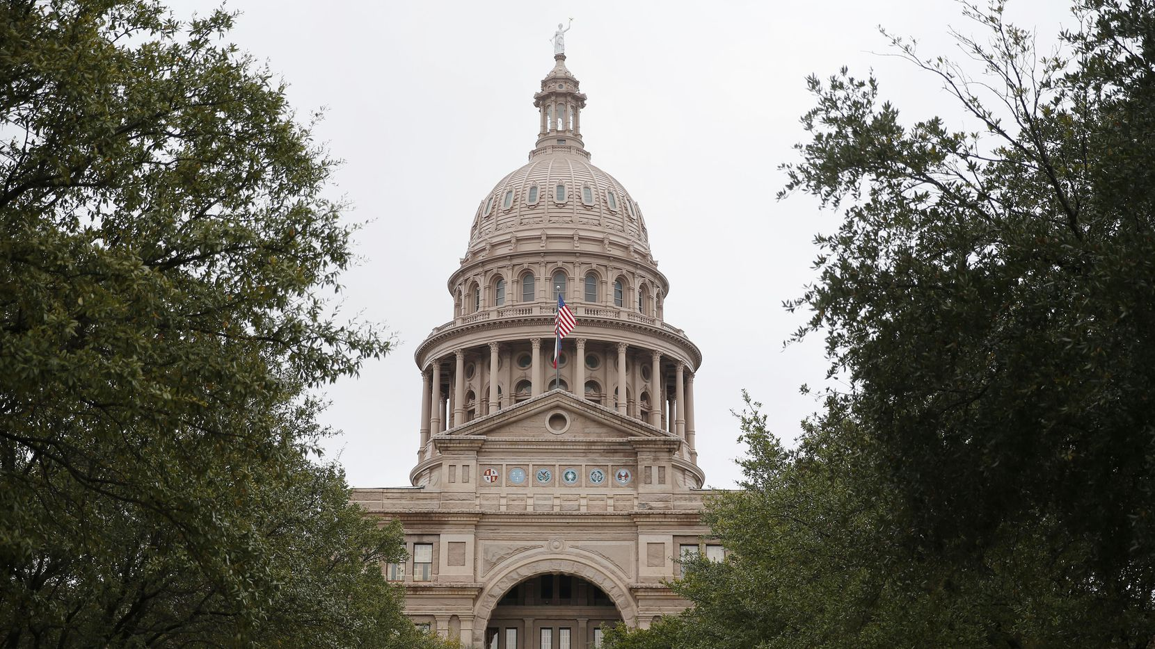 An exterior of the Texas State Capitol in Austin on February 4, 2015. (Andy Jacobsohn/The Dallas Morning News)