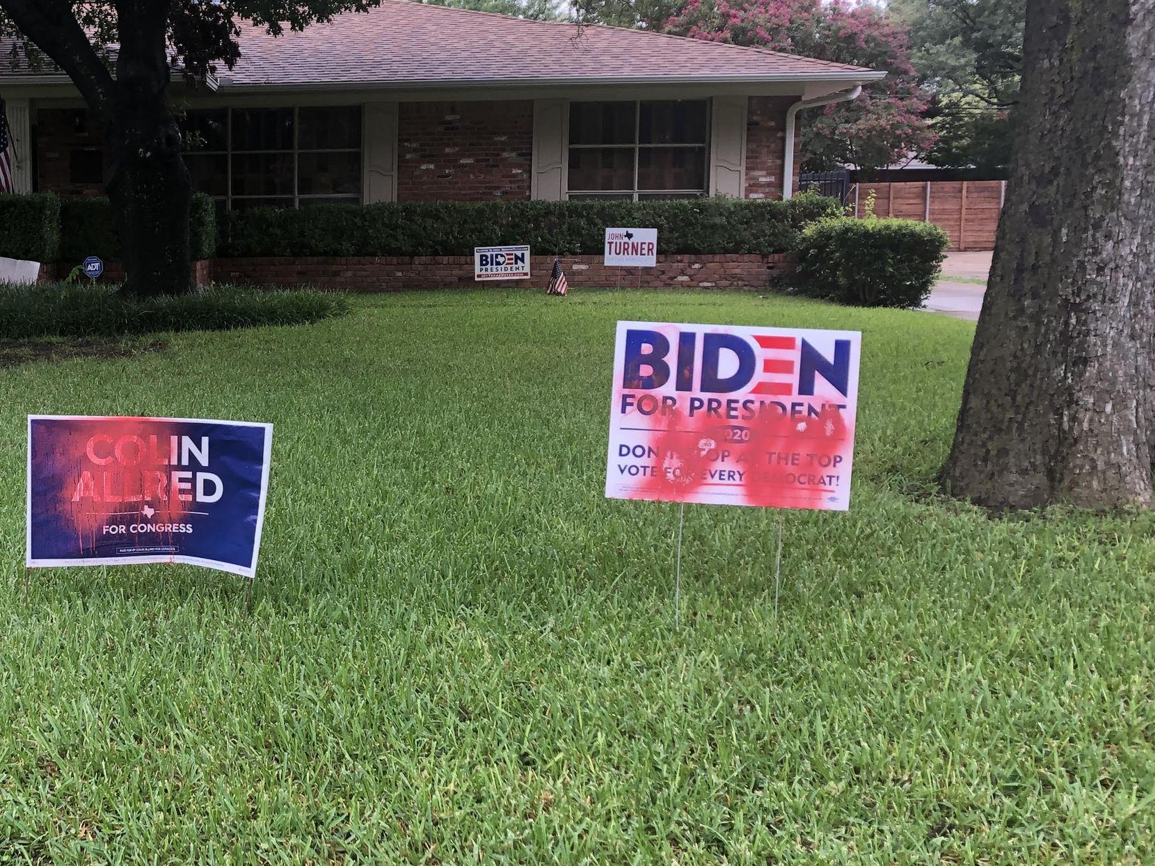 Trump Or Biden Dallas Area Neighbors Face Off Over Political Signs