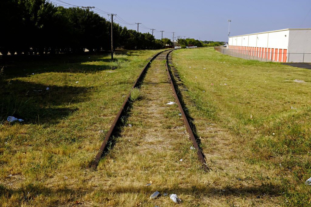A now-defunct rail line off Parker Road, across from the current DART station, would likely be where the Red Line could one day run to McKinney — if someone can find the money.