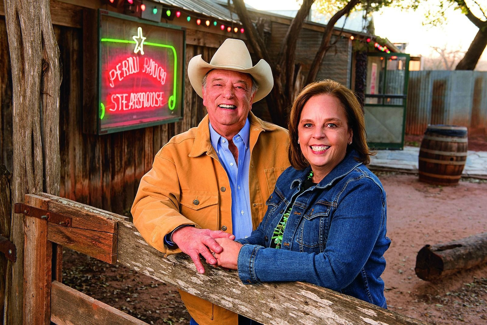 Tom and Lisa Perini of the Perini Ranch in Buffalo Gap are featured in the Neiman Marcus 2020 Christmas Book. A trip to the ranch and a year s supply of beef from a Black Angus steer is one of the fantasy gifts and costs $185,000. The trip will include time with Perini, known as the Cowboy Gourmet. His Perini Ranch Steakhouse has received the James Beard Award.