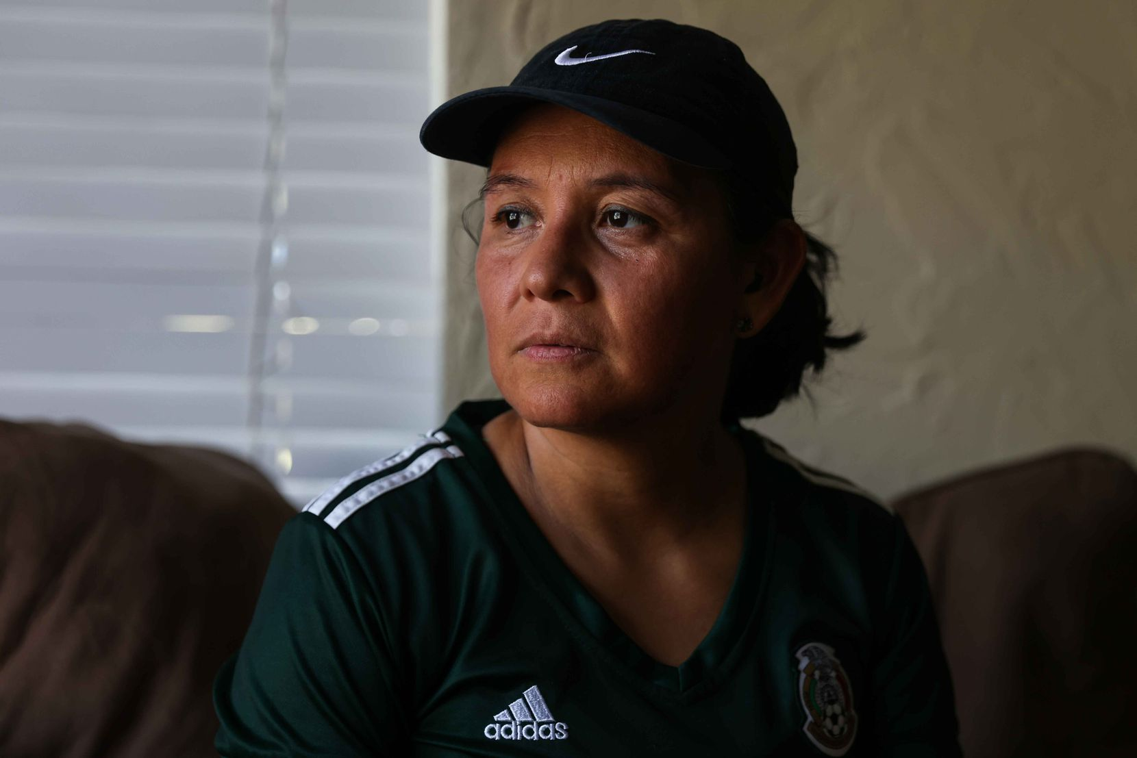Julieta Montemayor poses at her home in Farmers Branch on Tuesday, September 7, 2021. Montemayor and her husband were working next to the Pentagon on September 11, 2001 when an American Airlines flight crashed into the building.