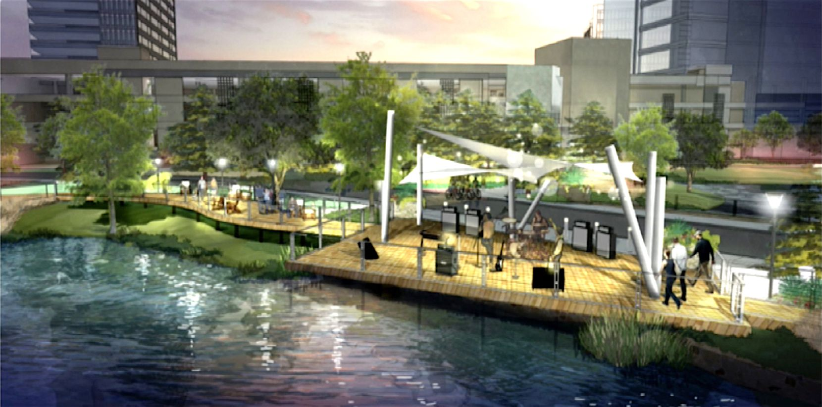 Granite Properties plans to expand its popular restaurant boardwalk with an outdoor music venue.