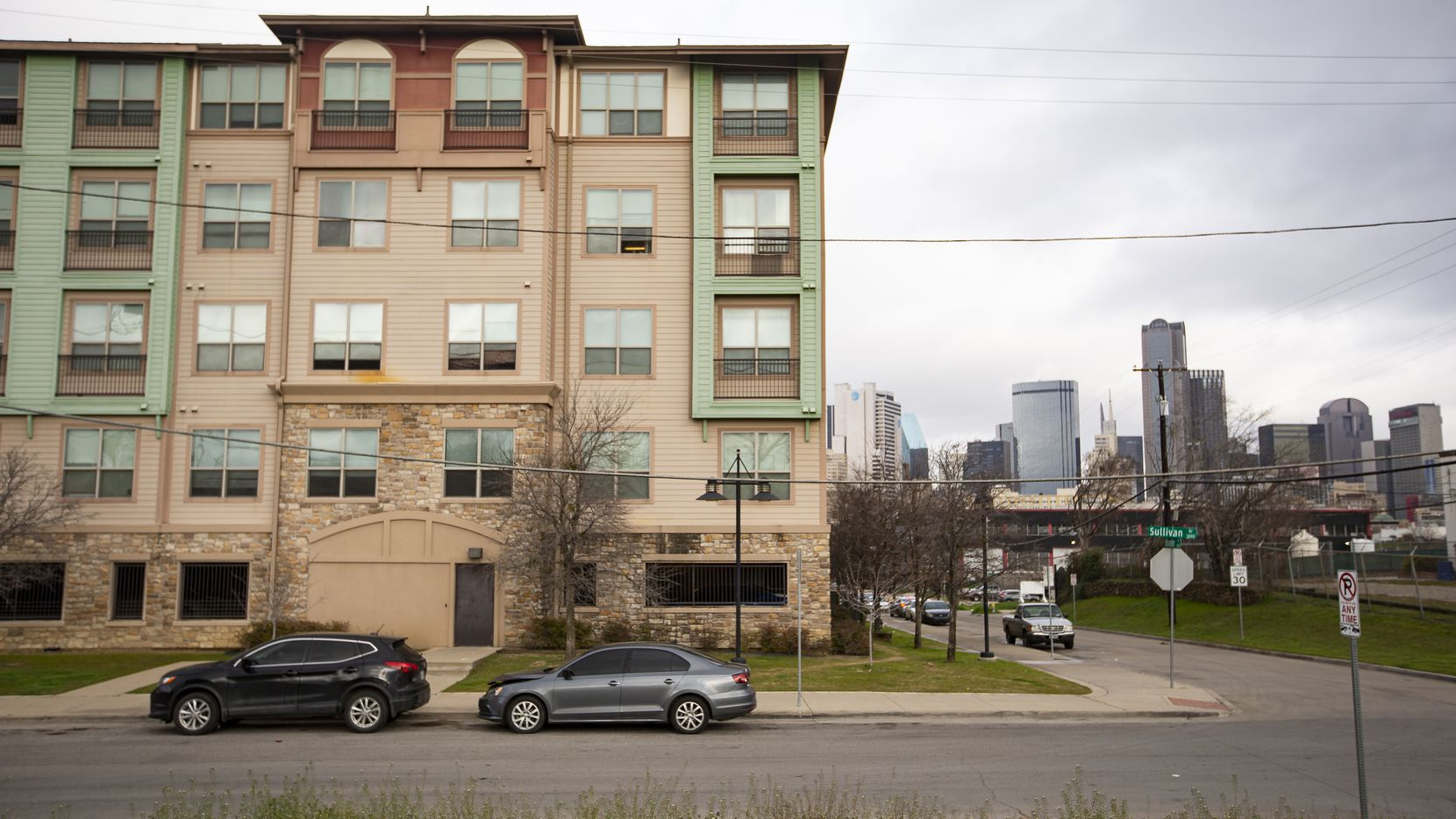 The Belleview apartments are in the Cedars neighborhood on the edge of downtown Dallas.