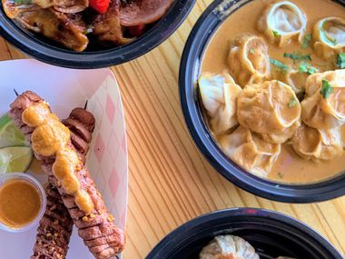 Cafemandu in Irving specializes in Nepali fare, including momos, which are filled dumplings, and sekuwa, skewered meats.
