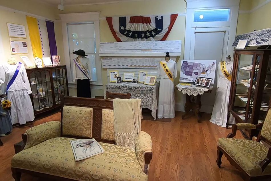 A new exhibit at the Fielder House Museum in Arlington explores the history of women's suffrage.