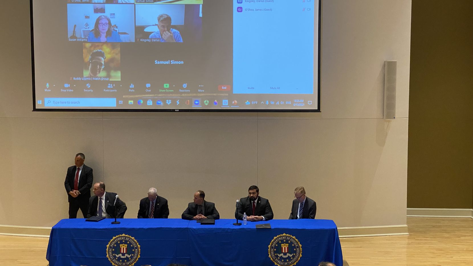 Branches of the U.S. Departments of Justice and Treasury, including the FBI, Secret Service, Postal Inspection Service, U.S. Attorney's Office and Social Security Administration, met at TCU to talk about protecting Americans from scams.