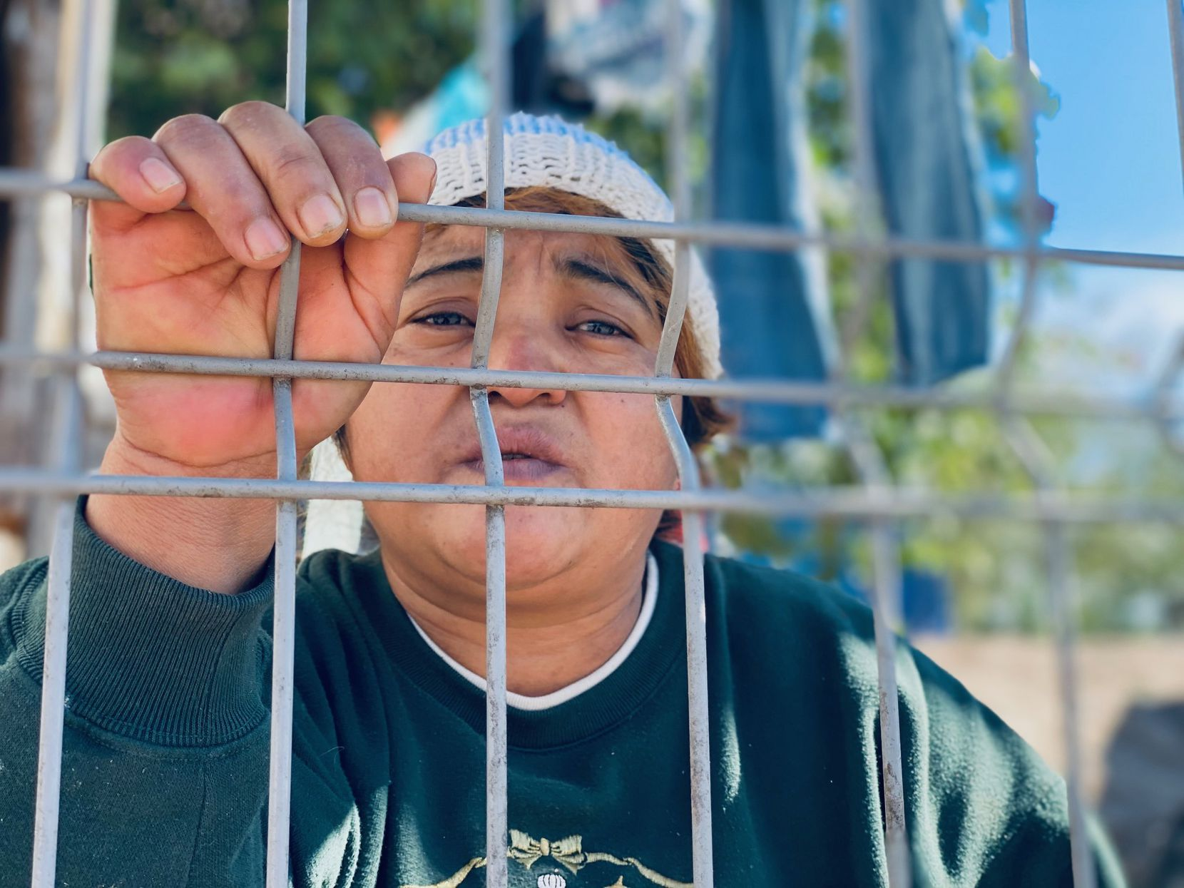 Ana Sorto, an asylum-seeker from Honduras, has been in a makeshift migrant camp in Matamoros, Mexico, for the past 17 months, waiting for an immigration court hearing. She hopes she gets the opportunity under the Biden administration.