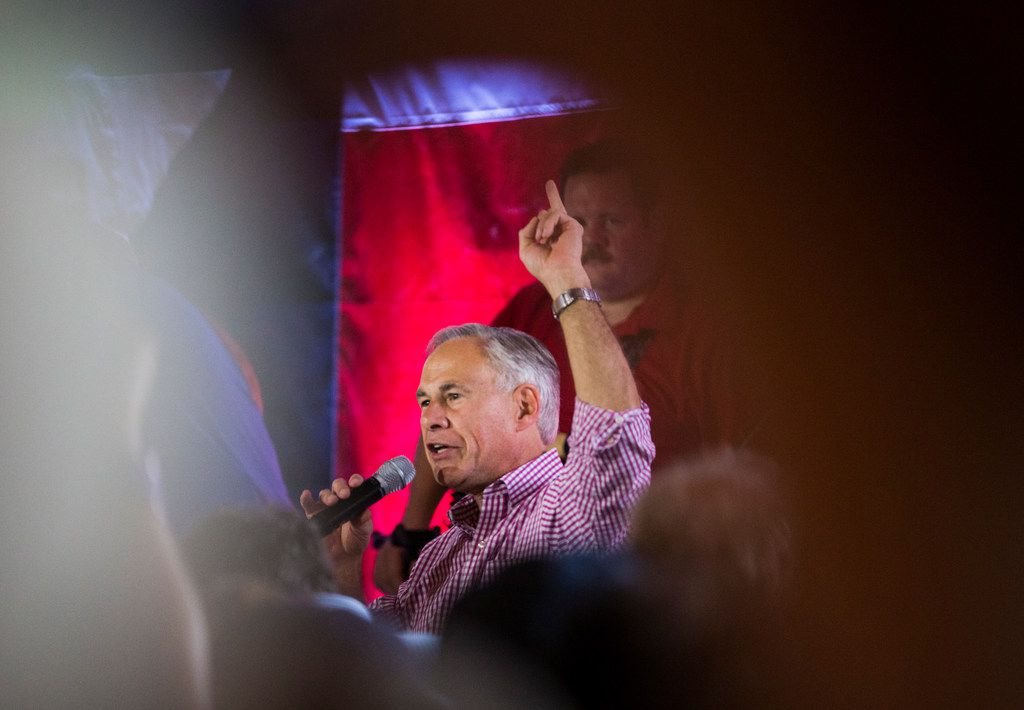Gov. Greg Abbott, who stumped Monday at a Collin County Republican event in McKinney, has launched nearly $3 million of ads in hopes of not only beating Democrat Lupe Valdez but protecting Texas GOP candidates in general.