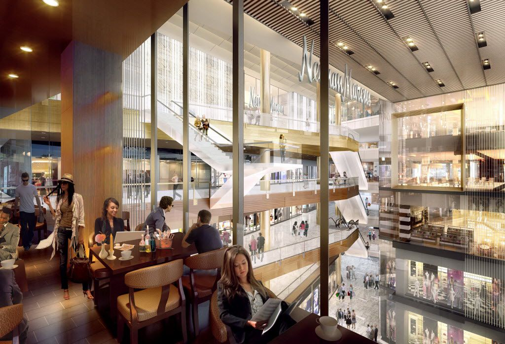 Neiman Marcus is completing a three-level store at the top of The Shops at Hudson Yards. Neiman Marcus will occupy levels 5-7 in the vertical mall that is scheduled to open in March 2019.
