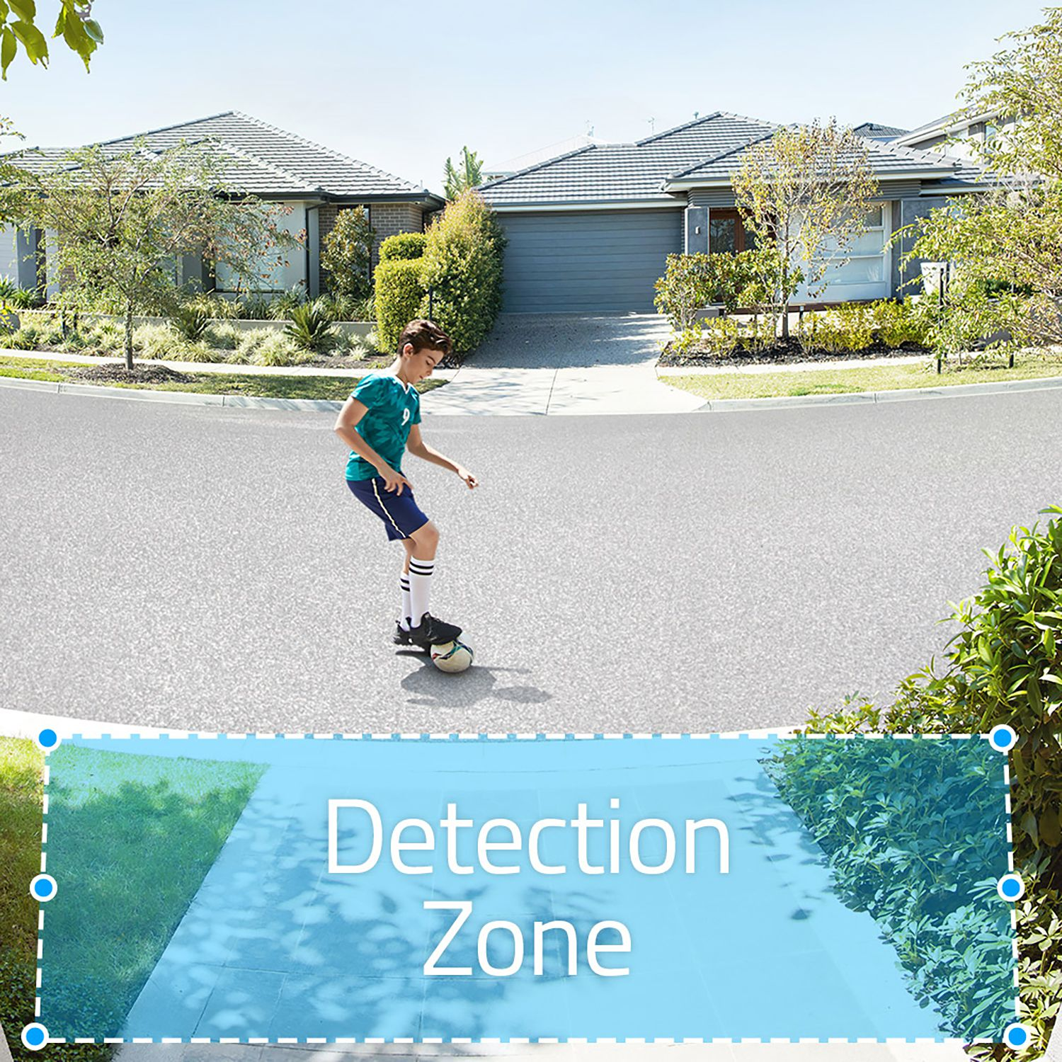 Users can set motion detection zones to avoid unwanted notifications.