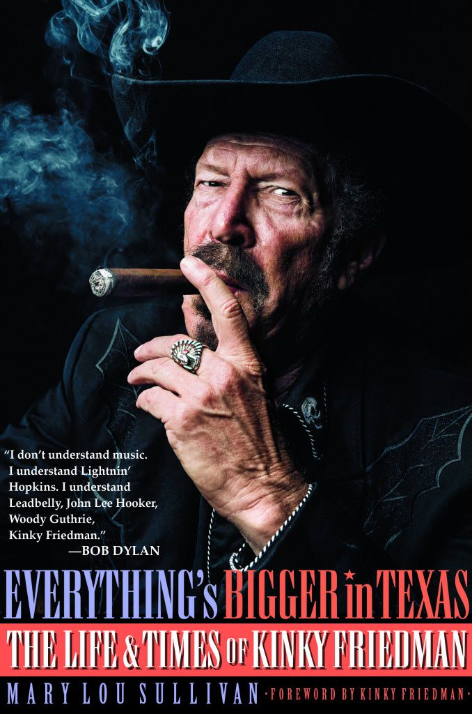 Kinky Friedman and biographer Mary Lou Sullivan will sign copies at Poor David's Pub on Nov. 17.